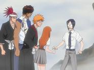 O68 Renji, Sado, Ichigo i Orihime dowiadują się o utracie mocy Uryu