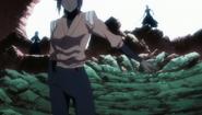 Yoruichi halts the Reigai advance