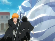Rukia ajudando Ichigo