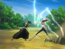 Yoruichi defeats Sui-Feng