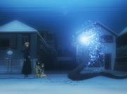 Sora menusukkan Zanpakuto Ichigo