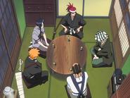 O66 Ichigo, Uryu, Renji, Kisuke i Tessai opracowują plan