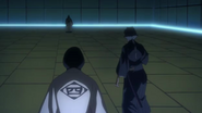 Unohana confronts Inaba