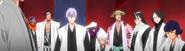 O25 Sui-Feng, Retsu, Shunsui, Hitsugaya, Mayuri, Ichimaru, Zaraki i Tosen otrzymują alarm