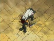 Kenpachi unconscious