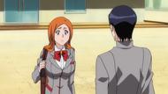 Orihime asking Uryū over Ichigos abduction