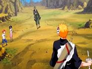 O19 Jinta i Ururu przyglądają się ostatniemu etapowi treningu Kisuke z Ichigo