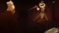 Ryu Kuzu attempts to cut down Kumoi