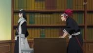 Byakuya rozmawia z Renjim