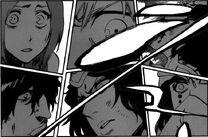 Ichigo, Sado, Orihime, Cyan Sung-Sun y Mila Rose Impactados