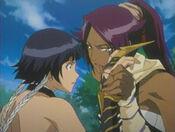 Yoruichi y Soi Fong