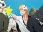 Ichigo golpea a urahara