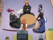 O65 Ichigo, Renji, Uryu i Sado czekają w mieszkaniu Orihime