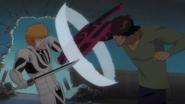 Chad punches Ichigo