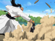 Ichigo bloqueia o soco de Yammy