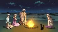 Ichigo and others around fire