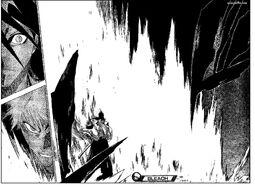 Byakuya Somprendido por el poder de ichigo
