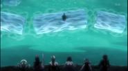 Senbonzakura retrieves the broken Sode no Shirayuki