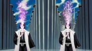 Byakuya i jego Reigai aktywują Shikai