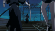 Rukia flees from the Reigai