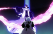Hitsugaya ambushed by Reigai-Byakuya