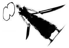 Ichigo sosteniendo su nueva Zangetsu
