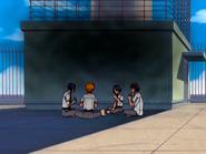 O15 Uryu, Ichigo, Keigo i Mizuiro jedzą obiad w ponurej atmosferze