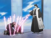 Byakuya mengalahkan Renji