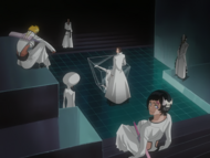 O138 Członkowie Espady oglądają, jak Aizen zmienia Wonderweissa w Arrancara