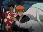 Ichigo salva a Sado