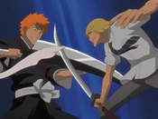 Ichigo vs Shinji anime