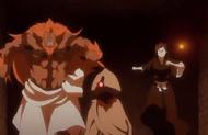Hozukimaru and Nanao pursue the figure