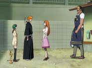 Ichigo returns to Urahara Shop