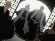 Byakuya i Kenpachi w pokoju Orihime