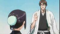 Hinamori y Aizen