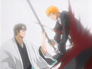 Aizen easily defeats Ichigo