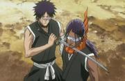 Hisagi menahan Tosen