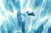 Hitsugaya fights Hyōrinmaru (spirit)