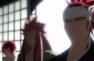 Renji and his Zanpakuto arrive in Karakura Town