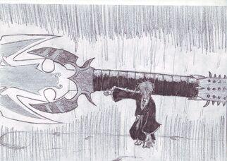 Jean Pierre empuña a Jigoku no Byu