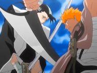 Starcie Byakuyi i Ichigo