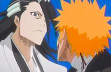 Ichigo cuestiona a Byakuya
