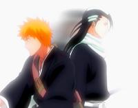 O17 Byakuya przemieszcza się za Ichigo za pomocą Senka