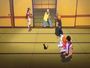 O23 Kukaku, Yoruichi, Sado, Orihime i Uryu przyglądają się reakcji Ganju i Ichigo