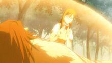 Orihime curando a Muramasa-1-
