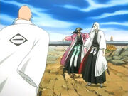 Yamamoto vs Kyoraku y Ukitake