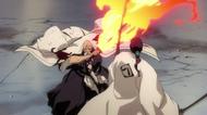 Yamamoto releases his Shikai against Kyoraku