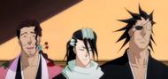 O310 Shunsui, Byakuya i Kenpachi otrzymują reprymendę za zgubienie haori