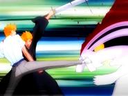 O7 Ichigo i Kon pokonują Hollowa