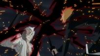 Kokuto bloquea el ataque de Ichigo